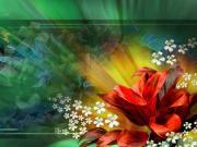 3 Boyutlu Çiçekler Yapbozu Oyna