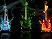 3 Boyutlu Gitarlar Yapbozu