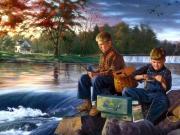 Balık Tutan Çocuklar Yapbozu