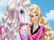 Barbie ve Pony Yapbozu Oyna
