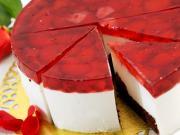 Çilek Jöleli Pasta Yapbozu Oyna