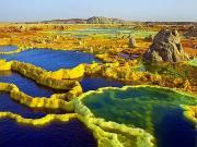 Dallol Yanardağı-Etiyopya Yapbozu