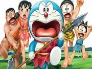Doraemon-Taş Devri Macerası Yapbozu Oyna