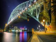 Gece Sydney Liman Köprüsü Yapbozu Oyna