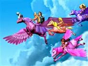 Gökyüzünde Uçan Barbie Yapbozu Oyna