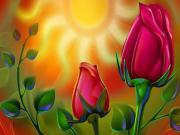 Güneş ve Güller Yapbozu Oyna