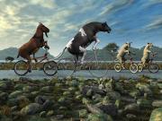 Hayvanlar Bisiklet Kullanırsa Yapbozu Oyna