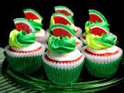 Karpuz Şekerli Cupcake Yapbozu Oyna