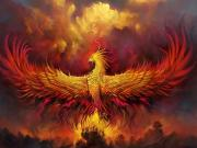 Kırmızı Anka Kuşu Yapbozu