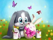 Küçük Tavşanın Paskalya Hazırlığı Yapbozu Oyna