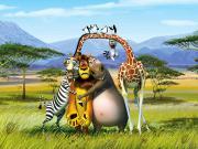 Madagaskar'da Şaşkın Bakışlar Yapbozu Oyna