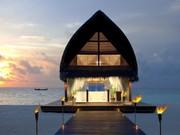 Maldivlerde Gün batımı Yapboz