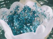 Mavi Çiçek Buketi Yapbozu Oyna