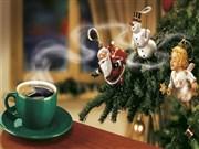 Noel baba ve kahve fincan yapbozu Oyna