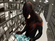 Örümcek Adam Kitapçıda Yapbozu Oyna
