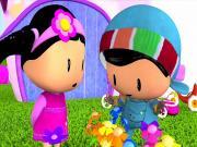 Pepee Çiçek Topluyor Yapbozu Oyna