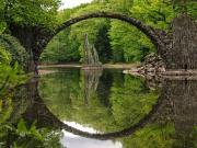 Rakotzbrucke Köprüsü-Almanya Yapbozu
