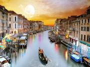 Venedik'te Gondol Sefası Yapbozu Oyna