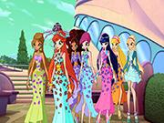 Winx Kızları Partide Yapbozu Oyna