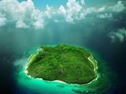 Yeşil Ada ve Gökyüzü Yapbozu Oyna