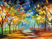 Yol ve Ağaçlar Tablosu Yapbozu Oyna