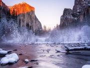 Yosemite Ulusal Parkı'nda Kış Yapbozu Oyna